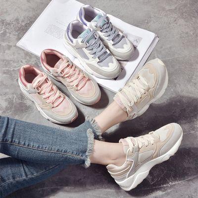 卓哈休闲鞋女网红ins撞色运动女鞋韩版时尚百搭透气舒适板鞋新款