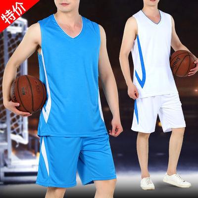 夏季运动套装男士速干衣中老年休闲跑步球服篮球服男球衣宽松大码