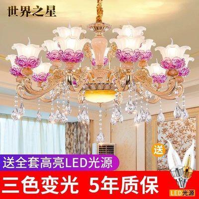 欧式吊灯客厅灯玉石水晶吊灯简约现代餐厅卧室灯别墅工程灯吊灯