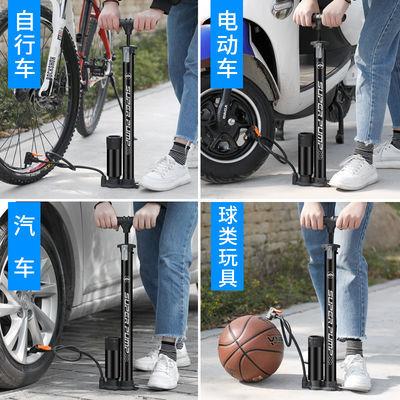打气筒自行车高压便携家用通用气筒电动电瓶车汽车篮球气管子充气