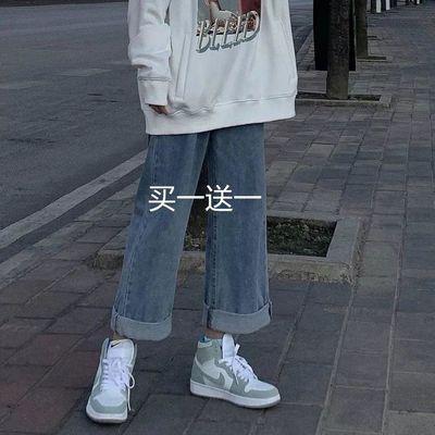 2020夏新款阔腿牛仔裤女直筒宽松显瘦休闲长裤子修身韩版高腰春秋