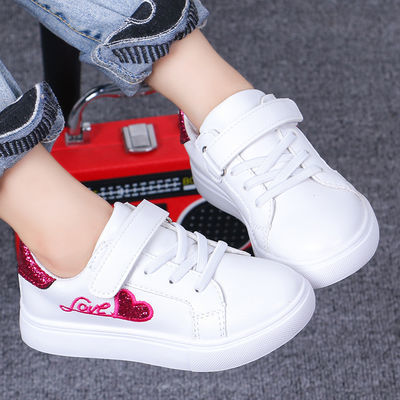 儿童软底学生小白鞋子新款2020春季童鞋男女韩版防滑百搭小孩板鞋