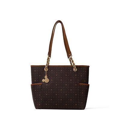 高档品牌经典大牌合作款米奇老花托特包包女2020新款时尚手提大包