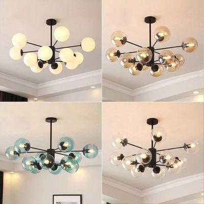 北欧现代简约风格简欧魔豆吊灯创意个性餐厅卧室家用大气客厅灯具