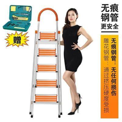 加厚梯子家用折叠梯铝合金人字梯室内装修多功能梯不锈钢梯子楼梯