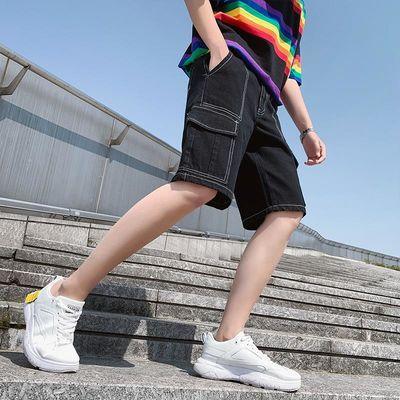 2020夏季新款男士韩版潮流帅气牛仔短裤潮牌青年休闲知道五分中裤