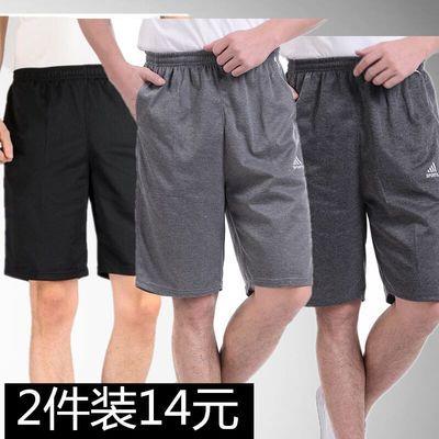 夏季男装五分裤沙滩裤男生运动休闲短裤大裤衩男宽松大码胖子薄款
