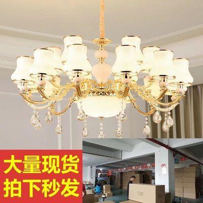 客厅灯简欧锌合金欧式吊灯餐厅酒店水晶卧室吸顶灯客厅灯具灯饰