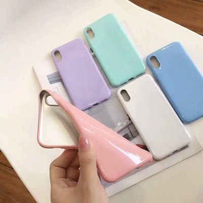 糖果色oppor15x手机壳A5u002FA7Xu002FA83A79闪粉亮面A57软套r17