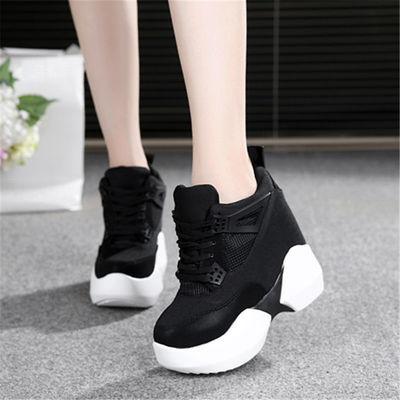 2020春季新款厚底女鞋鞋超高跟10厘米松糕底小白内增高韩版休闲鞋