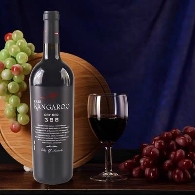 澳大利亚原瓶进口伯爵袋鼠388干红葡萄酒13度 750ml*6瓶整箱装
