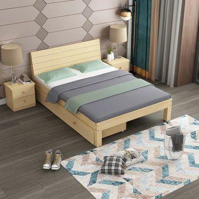 简易实木床出租房经济型现代简约主卧松木单人床双人床