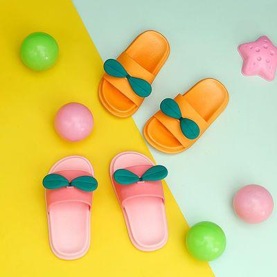 儿童拖鞋夏季卡通可爱大小童亲子防滑室内家居浴室宝宝一字拖鞋