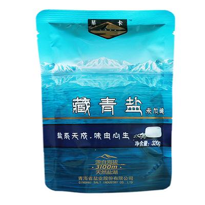 藏青盐320g*6袋茶卡盐无碘盐食用盐家用不加碘盐无抗结剂食盐湖盐