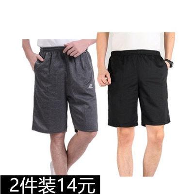 夏季薄款中老年高腰弹力短裤男五分裤宽松休闲大码运动5分大裤衩