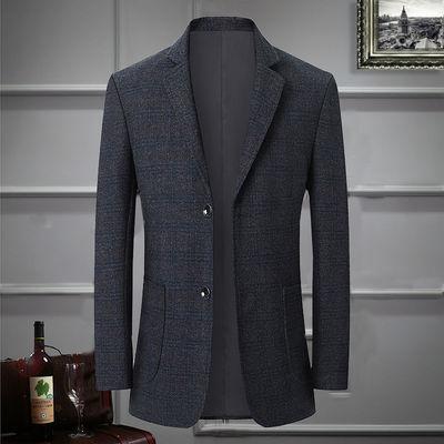 高档新款男西服休闲西服男上装男士西服商务中青年西服加棉男外套