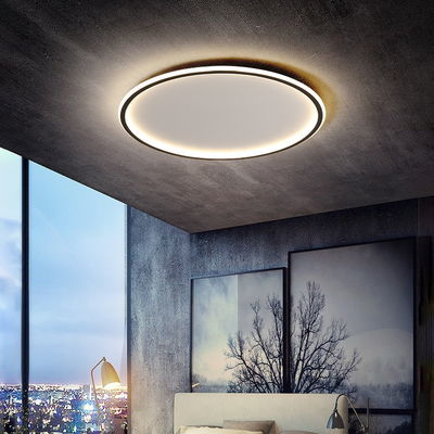 卧室灯 简约现代客厅书房灯圆形超薄led吸顶灯北欧风格温馨房间灯