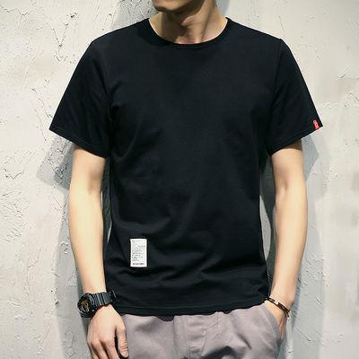 T恤男2020春夏季新款服饰男装纯色印花打底衫短袖半袖衣服