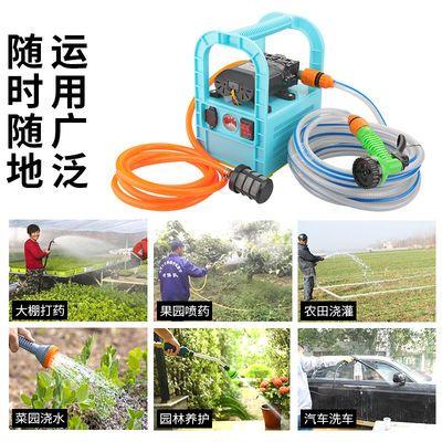 农用浇菜充电水泵家用户外便携式洗车12V抽水泵小型抽水机打药泵