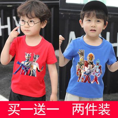 2020夏季新款奥特曼衣服男童夏装T恤套装宝宝洋气超人短袖两件套