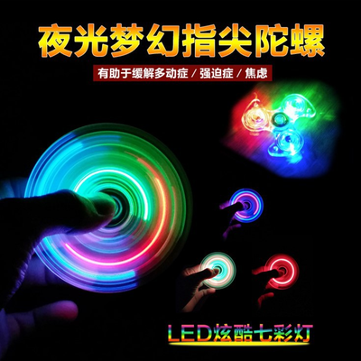 (买二送一)炫彩指尖陀螺edc手指陀螺指尖螺旋减压儿童玩具