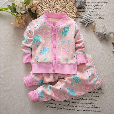 童装春秋双面绒套装保暖套装套装儿童婴幼儿套装