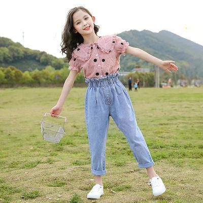女童套装夏装洋气2020新款中童大童时髦12女孩儿童夏季网红两件套