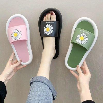 防臭 防滑凉拖鞋女夏ins外穿学生韩版爆款新款厚底男家用防滑