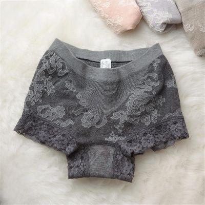 日本原单蕾丝纯棉中腰收腹提臀一片式无痕内裤包臀女性感三角裤头