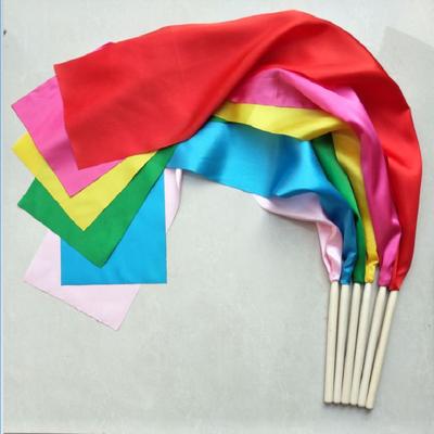 【一对装】特价木棒儿童秧歌红绸带舞蹈绸子广场舞彩带腰鼓丝带