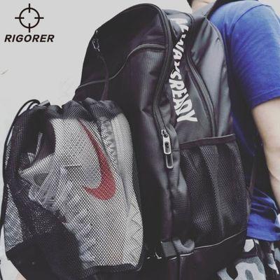 准者篮球包多功能训练双肩背包大容量运动包学生书包抽绳篮球兜袋