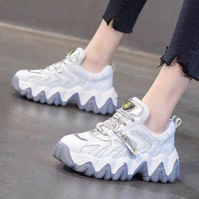 2020新款春夏季鞋子女学生运动鞋韩版百搭厚底透气跑步ins老爹鞋