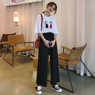 阔腿裤女春夏装高腰垂感2020直筒宽松显瘦九分百搭西装黑色休闲裤