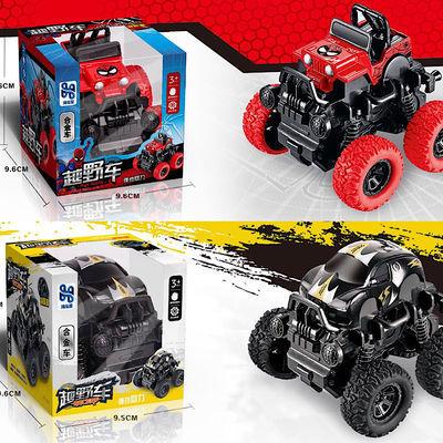 合金车越野回力车小汽车模型玩具车男孩卡通车大脚车