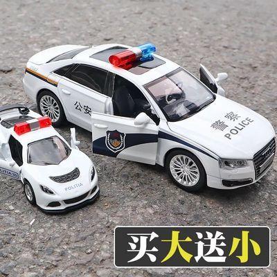 合金车警车玩具回力车子小汽车玩具车车模儿童玩具车模型合金仿真