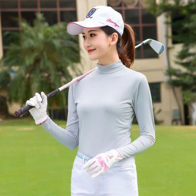 TYGJ 高尔夫服装 夏季防晒衣 男士冰丝高领拉链长袖T恤球衣服