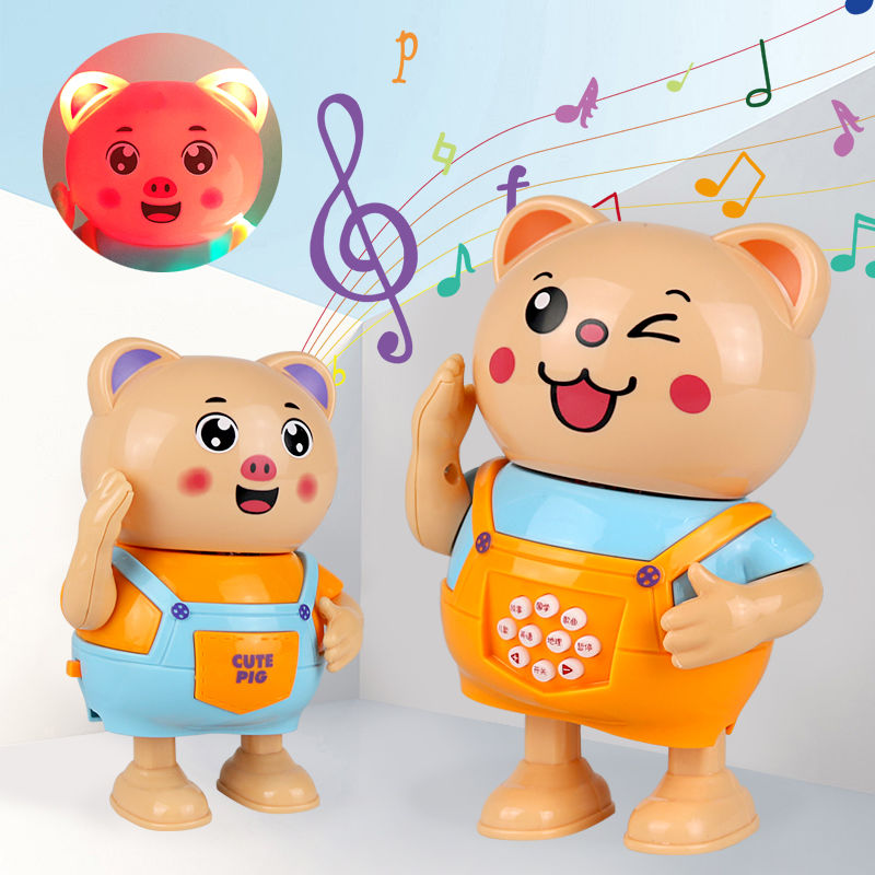 【抖音跳舞猪】电动带灯光抖音海草舞唱歌跳舞萌萌小猪男女孩玩具