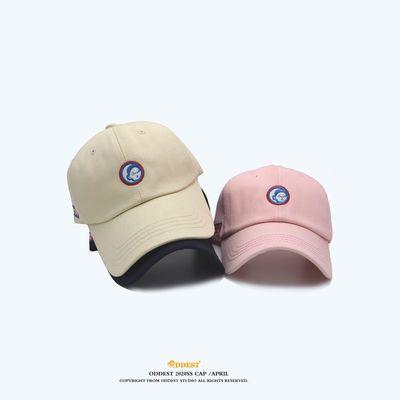 ODDEST简约日系学生女街头棒球帽子女夏天透气百搭纯棉鸭舌遮阳帽