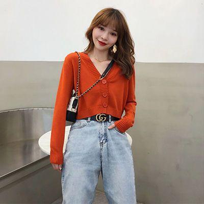 大码女装毛衣女学生韩版宽松中长款过膝针织开衫外套蝙蝠袖秋显瘦
