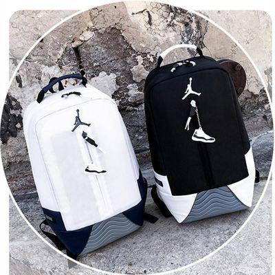 AJ飞人康扣双肩包男女中小学生书包旅行运动篮球包大容量电脑背包
