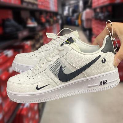 AF1空军一号马卡龙板鞋女鞋aj1高帮板鞋男OW低帮解构联名小白鞋