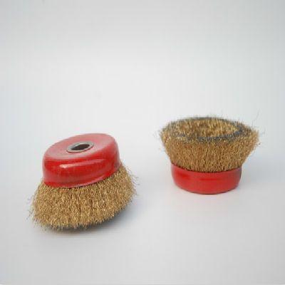 包邮钢丝轮 金属除锈碗型钢丝轮/除锈球/ 100/磨光机用 孔16结实