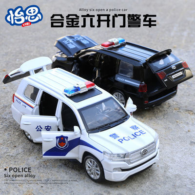 儿童仿真110警车合金回力车模型公安车男孩警察小汽车宝宝玩具车