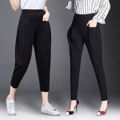 哈伦裤女2020新款灯笼裤女春夏裤子宽松显瘦百搭复古束脚裤长裤子