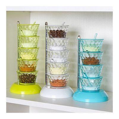 百露旋转调料盒立体式调味盒厨房调料架组合盐罐厨房家居用品家用