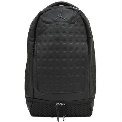 AJ13 男士黑白学生书包 篮球背包 双肩旅行包 电脑球鞋包  9A1898