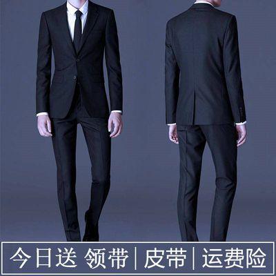品质修身西服套装男士西装三件套商务正装职业装新郎结婚礼服韩版
