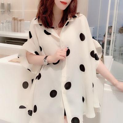 韩版遮肚胖mm大码女宽松短袖t恤夏季中长款蝙蝠袖雪纺衫2020新款
