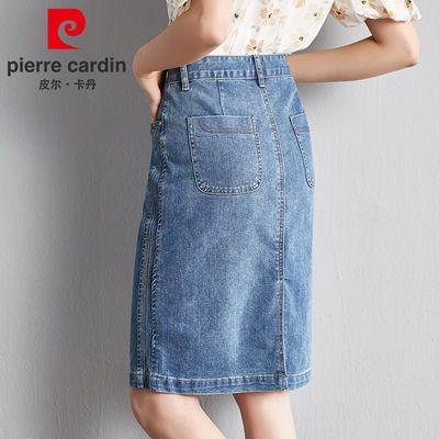 皮尔卡丹牛仔半身裙女夏高腰2020韩版新款刺绣气质显瘦包臀短裙子