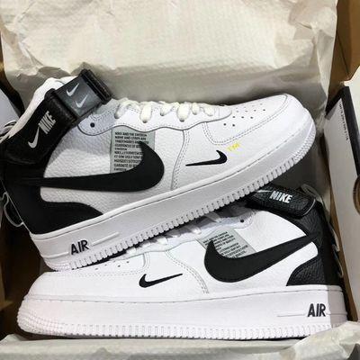 春季空军一号男女鞋aj1高帮马卡龙低板鞋学生运动鞋解构OW小白鞋